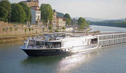 Avalon Poetry II on the Saone River in Lyon, France. August 2015.