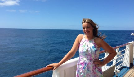 Erika on board ship
